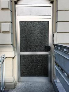 The door to my apartment building.